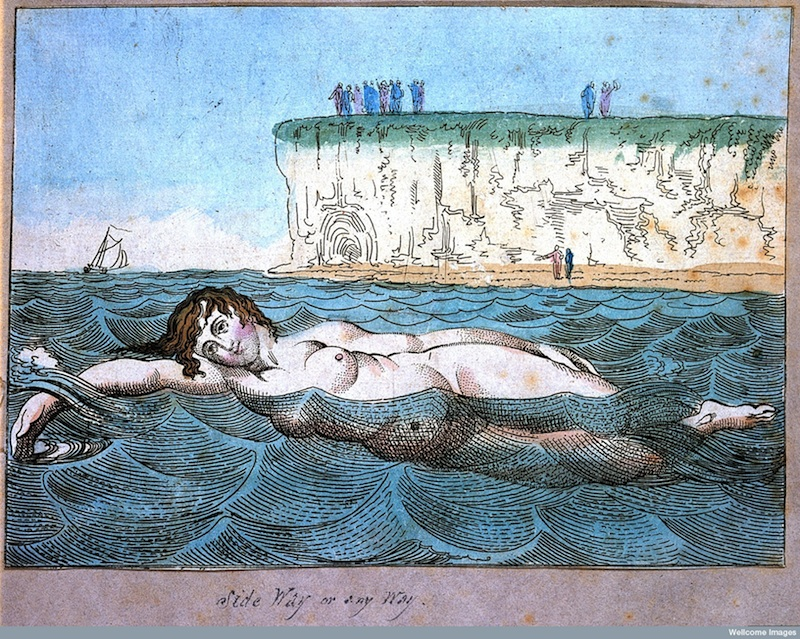 Swimming by Thomas Rowlandson