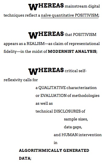 Manifesto of Modernist Digital Humanities