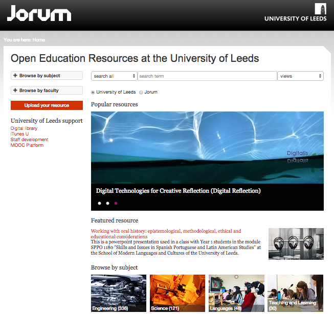 University of Leeds Jorum Window