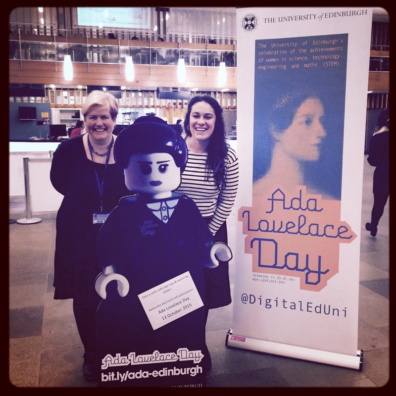 Anne-Marie Scott and Eugenia Twomey, two of the organisers of #ALD15EdUni