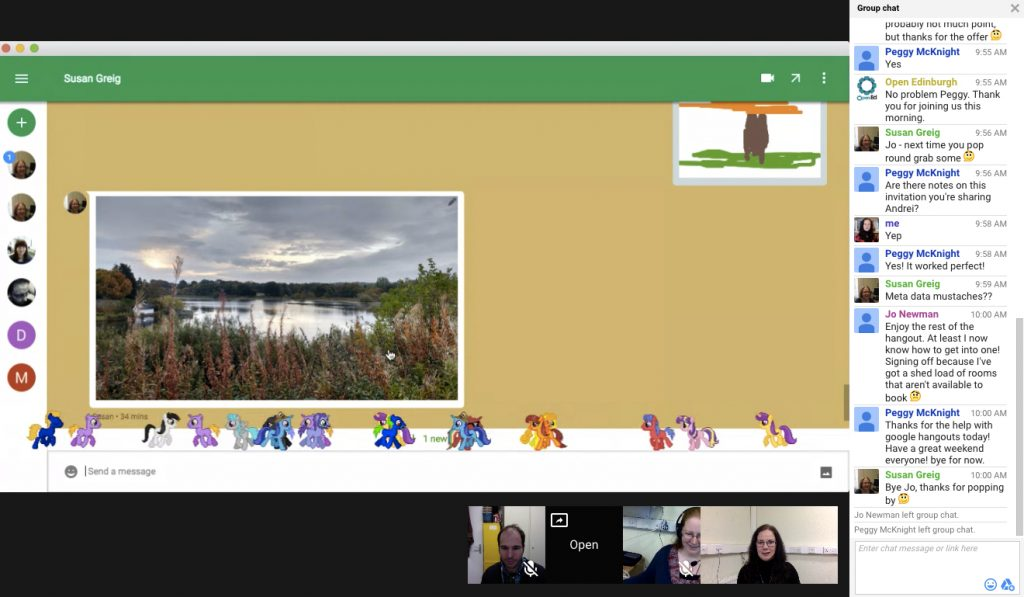 Google Hangouts with ponies