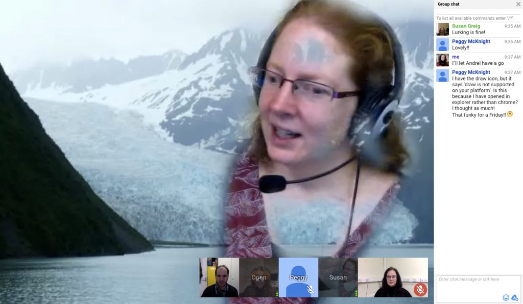 Google Hangout interface