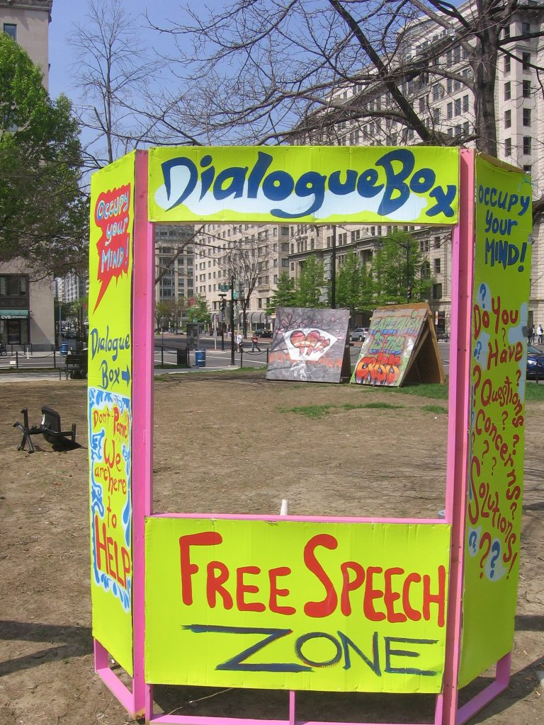 Free Speech Zone by Caitlyn_and_Kara CC BY 2.0